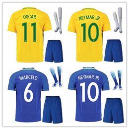 Wholesale Neymar Brazil Soccer - BRASIL BRAZIL CAMISA DE FUTEBOL NEYMAR JR JESUS WILLIAN OSCAR soccer jersey camisetas futbol thai thailand quality football jerseys