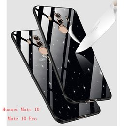 Wholesale Hybrid House - Tempered Glass Case for Huawei Mate 10 Pro Luxury Hybrid Back Cover Shockproof Sleeve Hard Housing For Huawei Mate 10 Pro Case