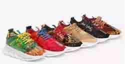calçado de peso esporte Desconto Sapatos de Homens de luxo Sapatos Da Reação Em Cadeia tênis formadores homens sapatilha peso leve cadeia-sola de borracha sapatos de luxo designer de calçados esportivos