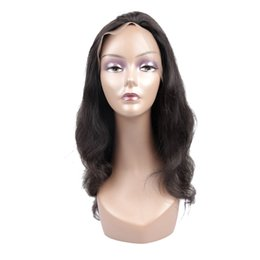 Wholesale Bank Wave - Body Wave Wigs Natural Color Full Lace Wigs Malaysian Virgin Human Hair Wigs For Black Women Free Shipping