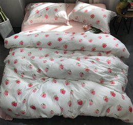 Discount Teen Bedding Sets Full   Modern Cute Fruit Strawberry Bedding Set  Adult Teen,full