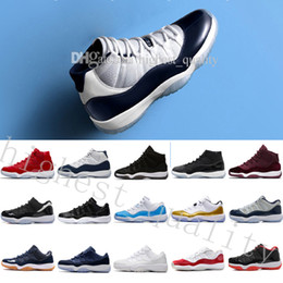 Wholesale Womens Size 11 Shoes - (with box) Mens womens 11 Basketball Shoes UNC Gym Red Space jam High quality Heiress Black Win like 82 96 Sneakers size US 5.5-13 Eur 36-47