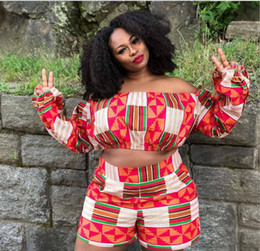 mujeres étnicas de ropa Rebajas 18ss Jumpsuits African Dress Ropa de mujer Limited New Sexy Retro Ethnic Dashiki Fashion Suelta dos conjuntos de pantalones ajustados