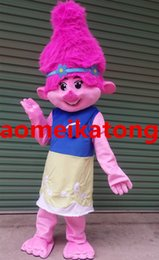 Wholesale Custom Mascots Costumes - Poppy Dream TROLLS Ugly doll Mascot Costume Adults Branch Birthday party dress fancy with factory direct sale