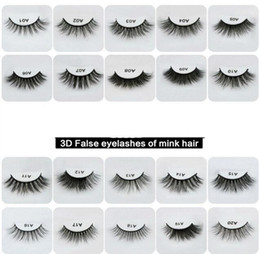 Wholesale Making 3d Logos - 20 Styles Selectable 13-16mm 1 Pair box OEM&Private Logo Acceptable 3D Real Mink Hair Fur Eyelashes Messy Eye lashes Extension Sexy Eyelash