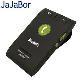 2019 kit de bluetooth libre de main de haut-parleur de voiture JaJaBor Universal Hands Free Calling MultiPoint Speaker Phone Kit de voiture sans fil Bluetooth avec microphone Bluetooth V4.0 + EDR kit de bluetooth libre de main de haut-parleur de voiture pas cher