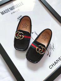 Chaussures de type en Ligne-Spot chaud bébé type de bateau bébé chaussures douces enfants PU fond souple chaussures garçons garçons nouveau-nés enfants chaussures de sport coco
