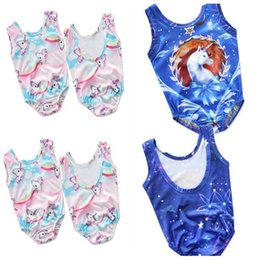 Wholesale Kids Swimwear For Girls - Unicorn One-Piece Kid Baby Cartoon Girl Beach Clothes Unicorn Swimwear Swimsuit for Girls Summer Beachwear 2 Styles 2-6T DHL Free Shipping