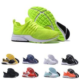 separation shoes 71878 0a82c 2018 Scarpe da corsa PRESTO BR QS Breathe Giallo Nero Bianco Uomo Donna  porti Sneaker da passeggio Scarpe firmate da uomo taglia 36-46