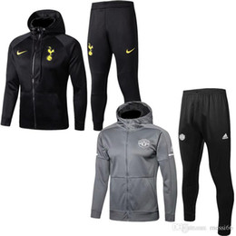 top quality new season Manchester united jacket pogba sweater 2018 2019 tracksuits soccer jersey lukaku Hooded fleece Kane hoodie coat