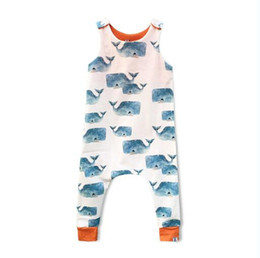 Wholesale giraffe baby clothes - Baby Print Rompers Kids Clothing Fox Giraffe Boy Girls Forest Road Newborn Infant Baby Girls Boys Summer Clothes Jumpsuit Playsuits 15 style