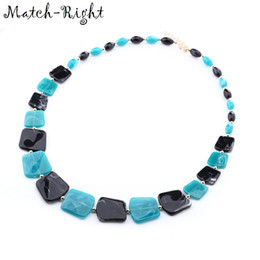 Wholesale trendy sweaters for women - Match-Right Trendy Women Geometric Necklaces & Pendants Statement Long Sweater Necklace with Acrylic for Women Jewelry SP226