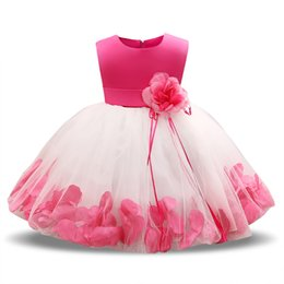 Wholesale Little Girls Fancy Dresses - Newborn 1 Year Birthday Outfit Little Princess Girl Baby Christening Gowns Kids Dresses Clothes Girls Fancy Christmas Party Wear