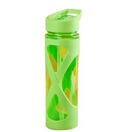 Wholesale Electric Hot Water Bottles - 580ml New Seal Straw Sport Water Bottle Anti Hot Leak Proof Plastic Sleeve Drink Bottle eco-friendly Material