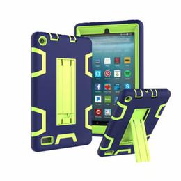 Wholesale Kindle Bundle - Kickstand Defender Case For Amazon Fire 7.0 HD8 HD7.0 2017 Shockproof Heavy Duty Stand Cover Skin For LG V498 V496 V495 V525 V520 V521