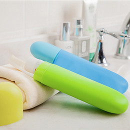Wholesale Plastic Storage Tubes - 1X Portable Toothbrush Box Toothbrush Case Cover Travel Hiking Tube Outdoor Bath Product Protect Case Holder Camping
