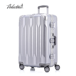 "Wholesale Tsa Travel - 20 ""24"" 26 ""28"" Aluminum frame and rods and PC TSA scratches travel trolley case rolling luggage suitcase with wheels"