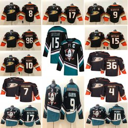 2019 кария-джерси Anaheim Ducks 15 Райан Гетцлаф Джерси 9 Пол Кария 17 Райан Кеслер 4 Cam Fowler Хоккейные майки дешево кария-джерси