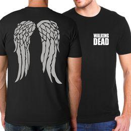 2019 camisetas personalizadas más talla 2018 Summer New Arrival The Walking Dead Men Camisetas Casual Movie T Shirt Tops personalizadas Tees Plus Size Hip Hop Streetwear hot tees camisetas personalizadas más talla baratos