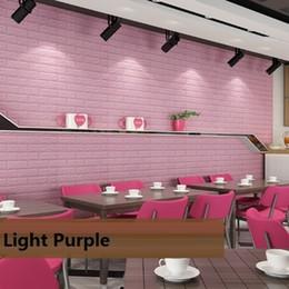 Papel de pared de espuma Safty Home Papel de pared 3D Papel de pared DIY Arte de la sala de estar de los niños decoración del dormitorio del caramelo color pegatina desde fabricantes
