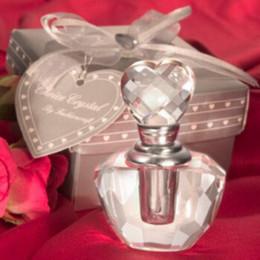 2020 regalos de bodas de cristal (50 unids / lote) ENVÍO GRATIS + WeddingBridal Favores de ducha y regalo Elección Crystal Botella de Perfume Perfume-botella Crystal Fiesta Regalo regalos de bodas de cristal baratos