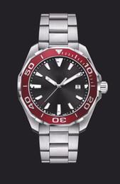 Wholesale Calibre Band - NEW AAA Top Luxury Brand Men's Calibre 300M Chronograph Watch Ceramic Bezel Stainless Steel Quartz Sports Men Watches Aquaracer Wristwatch