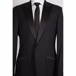 Nach Maß Zu Messen Männer Anzug Neueste Mode jacke + Pants + Tie + Tasche Squaure Tailored Smoking Bespoke Grau Bräutigam Hochzeit Anzug Mit Breiten Revers