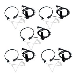 5PCS RETEVIS Garganta PTT MIC Auriculares para Kenwood TYT WOUXUN BAOFENG 888S UV5R H desde fabricantes