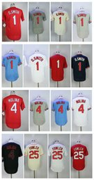 Wholesale Molina Baseball - Men Baseball jerseys 4 Yadier Molina 25 Dexter Fowler 1 Ozzie Smith Jerseys Flex Base Cool Base stitched Embroidery jersey