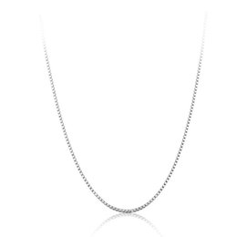 Wholesale Silver Box Chain 2mm - whole sale1PC Stainless Steel Necklace Silver Tone Thickness 2mm Longth 50cm Box Chain Necklace Fashion Simple High Quality