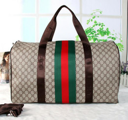 Wholesale Man Shoulder Luggage Bag - Fashion 55CM large capacity women travel bags famous classical designer high quality men shoulder duffel bags carry on luggage keepall
