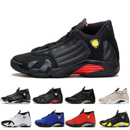df6f4adbcdd Classical 14 XIV Basketball Shoes Men Fusion Purple last shot Black Fusion  Varsity Red 14s XIV Playoffs Sneakers Eur Size 41-47