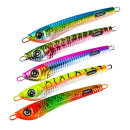 Wholesale Lead Spoons Fishing Lures - Brand Rainbow Color Metal Jigs Spoons bait 100g 14cm Antirust Iron Lead Fish Spinner baits Fishing lure