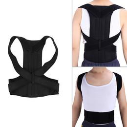 Wholesale back corrector men - Shoulder Women Men Posture Corrector Back Brace Belt Back Support Adjustable KSY