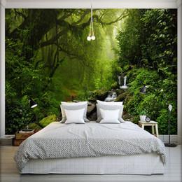 Wholesale Vintage Fiberglass - Photo Wallpaper 3D Stereo Virgin Forest Nature Landscape Wall Mural Living Room Sofa TV Bedroom Backdrop Wall Papel De Parede 3D