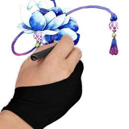 dimensioni della tavoletta Sconti Artista Disegno Due dita Anti-fouling Glove professionale artista guanto dipinto tavoletta grafica disegno formato libero