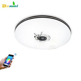 Wholesale Mobile Holidays - New Bluetooth Music Ceiling Lights with Mobile Phone LED Ceiling 32W RGB Indoor lamp bulb decoration LED Home Liviling lights