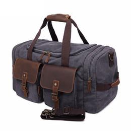 деловые сумки для багажа Скидка Мужчины Большой Емкости Мода Багаж Роскошные Ручной Путешествия Вещевой Мужской Большая Сумка Повседневная Бизнес Холст Дорожные Сумки