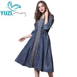 753d6b9d10bc6 Discount Vintage Blue Denim Dress Woman | Vintage Blue Denim Dress ...