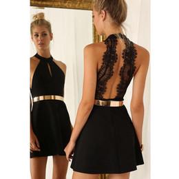 8 Photos Acheter en ligne Robe de dentelle dorée noire-Livraison Gratuite  Petite Robe Noire Courte Robes c47ecfd6fa6c