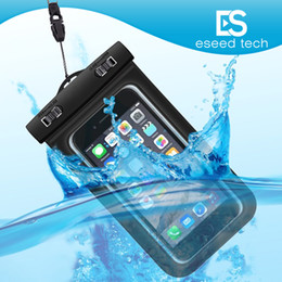 Wholesale Plastic Swim - Dry Bag Waterproof bag PVC Protective Mobile Phone Bag Pouch With Compass Bags For Diving Swimming Sports For iphone 6 6 plus S7 NOTE 7