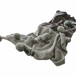 2019 manta de cama de acrílico Tela de acrílico europeo minimalista gris patrón de costura 1pcs ropa de cama suave mantas para cama suave esponjoso cálido Coberto rebajas manta de cama de acrílico