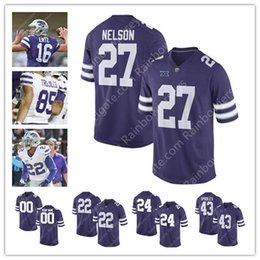 Wholesale Gronkowski Jersey White - Kansas State Wildcats College Football #27 Jordy Nelson 43 Darren Sproles 16 Tyler Lockett 48 Glenn Gronkowski Purple White Jerseys S-3XL