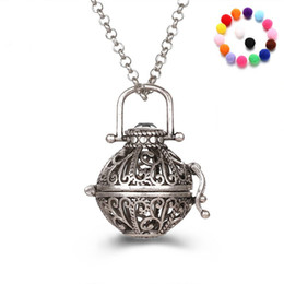 Wholesale Pendant Rose Gold - Aromatherapy Diffuser Necklace Essential Oil Diffuser Necklaces With 31 Inch Link Chain Fashion Jewelry Holiday Gifts