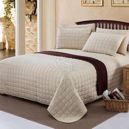 Wholesale Luxury Queen Bedspreads - Wholesale-Home Textile 100% cotton Luxury Quilted Bedspread Bed Covers Quilted Bedding Sheets Duvet Cover for Queen Size