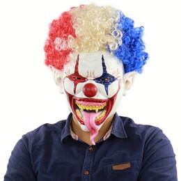 Canada Masque d'Halloween Clown À Cheveux Cloutés Visage Complet Latex Terror Crown masques Masque d'Horreur Pour Halloween Cosplay Party Night Club Offre