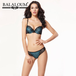 f4e676902aff3 wholesale Women Sexy Floral Lace Bra and Panty Sets Push Up Lingerie  Underwear Seamless G-String T Back Thongs Soft High Quality