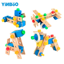 Wholesale pc game cars - Baby toys for children wooden game car hot wheels kids toy vehicle DIY tool for boy gift-70 pcs