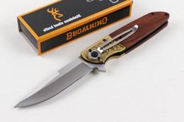 2019 дизайн рукояток ножей Браунинг FA40 быстро открывающийся вспомогательный лезвие тактический нож конструкции деревянной ручкой спасательные складной нож карманный инструмент охота Xmas подарок ножи P51R