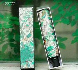 G diseño de letras online-Diseño de marca Letra G Paraguas Mujeres Hombres Patrón de flor Fold Protección UV Sombra Paraguas soleado y lluvioso Estilo clásico 2Colors Alta calidad